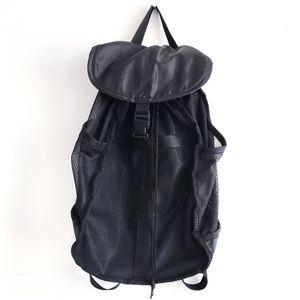 Handbags - Black mesh backpack